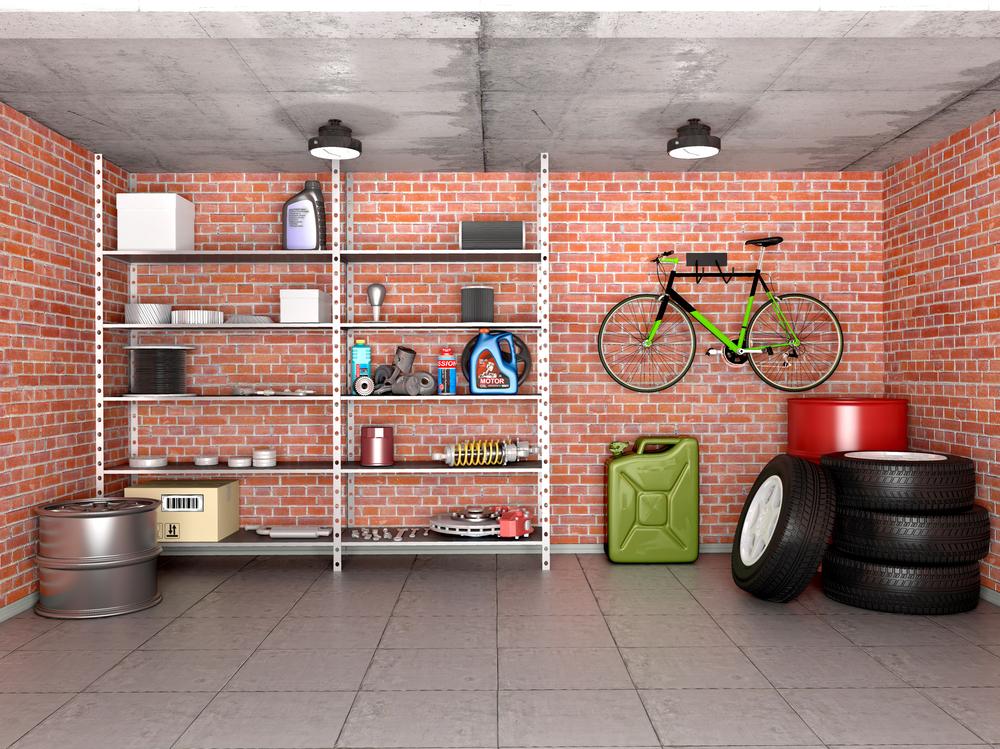 Garage als Stauraum